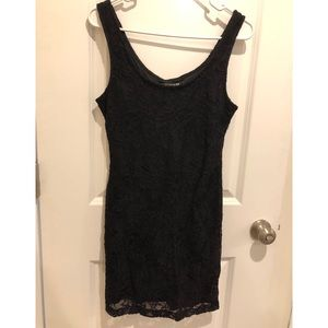 Sexy Forever21 black lace bodycon dress